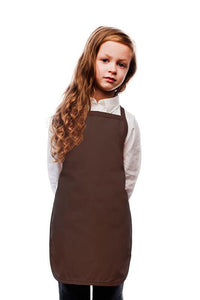 Brown Kids No Pocket Bib Apron