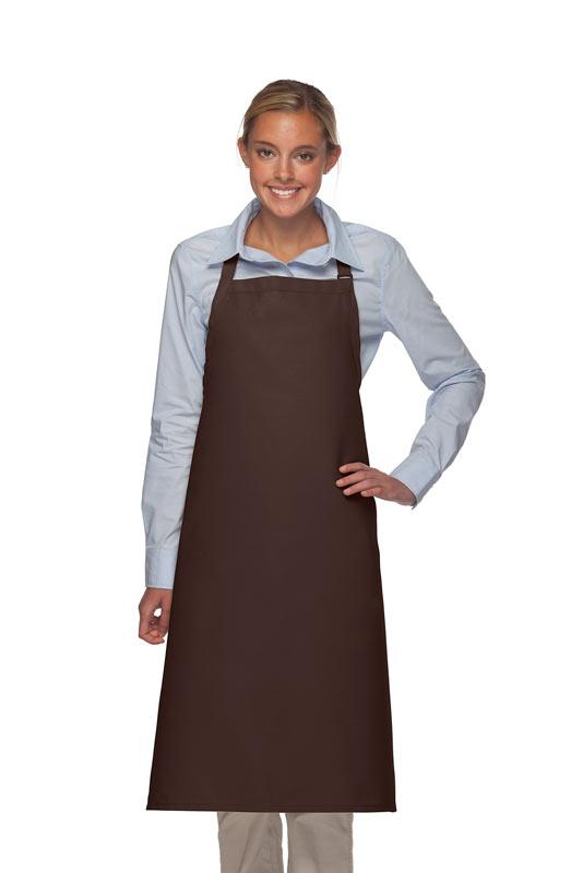 Brown No Pocket Adjustable XL Butcher Apron