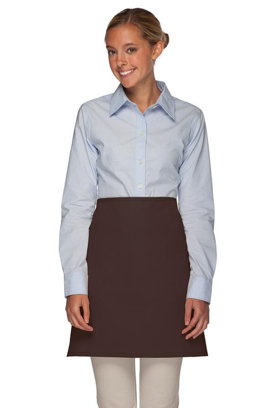 Brown No Pocket Half Bistro Apron