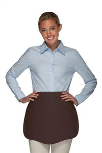Brown Scalloped Waist Apron