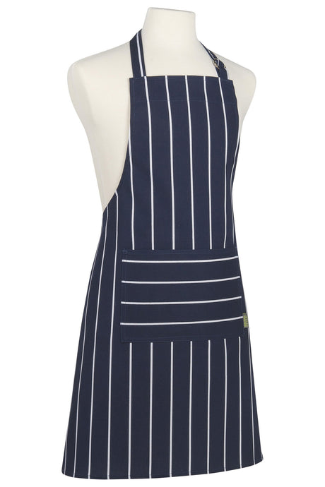 Blue Butcher Stripe Modern Apron