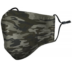 "Kids ""Camo"" Green Face Mask"