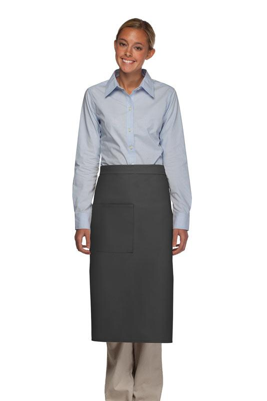 Charcoal 1 Pocket Full Bistro Apron