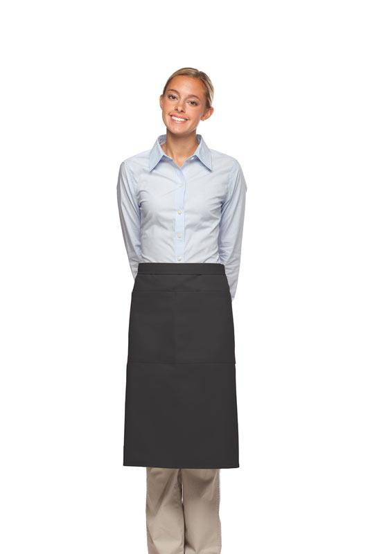 Charcoal 2 Pocket Three Quarter Bistro Apron