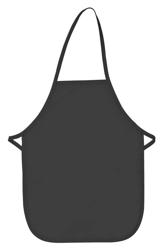Charcoal Kid's XL Bib Apron (No Pockets)