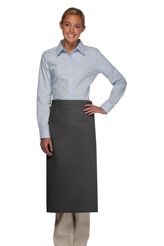 Charcoal No Pocket Full Bistro Apron