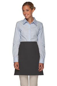 Charcoal No Pocket Half Bistro Apron