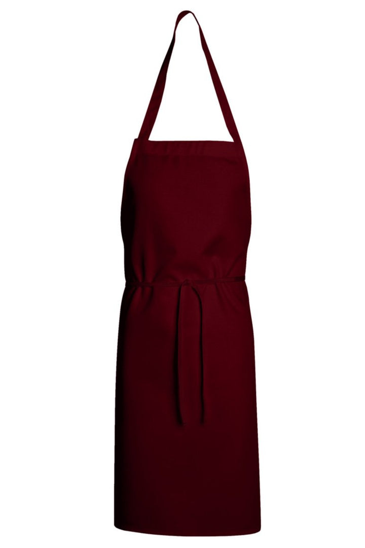 Burgundy Standard Bib Apron (No Pockets)