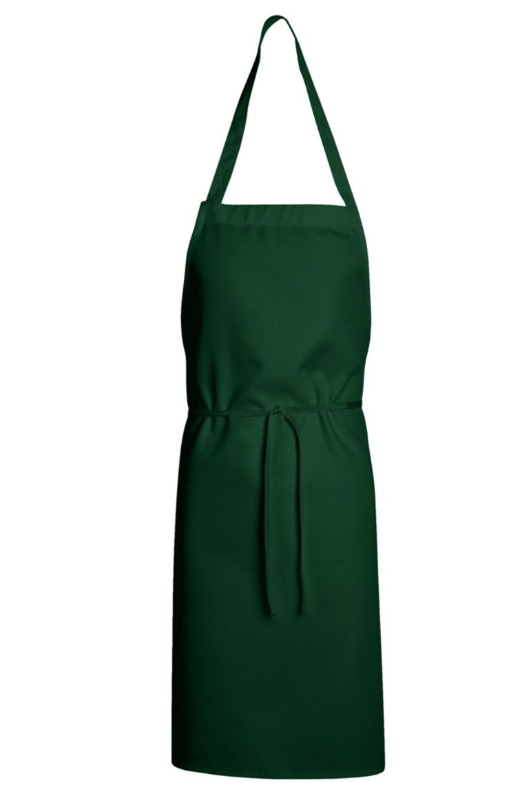 Hunter Green Standard Bib Apron (No Pockets)