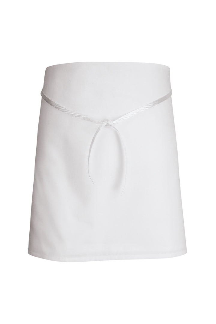 White 4- Way Bar Apron (No Pockets)