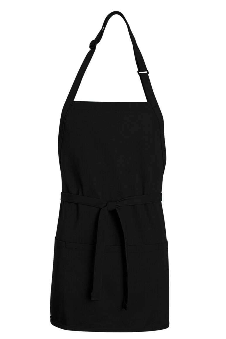 Premium Short Bib Adjustable Apron (3 Pockets)