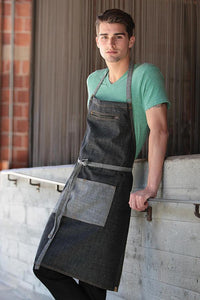 Black Manhattan Bib Apron