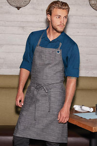 Black & Steel Grey Corvallis Bib Apron
