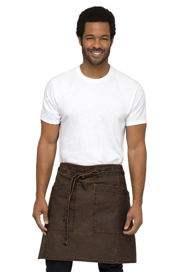 Denver Chocolate Rust Half Bistro Apron