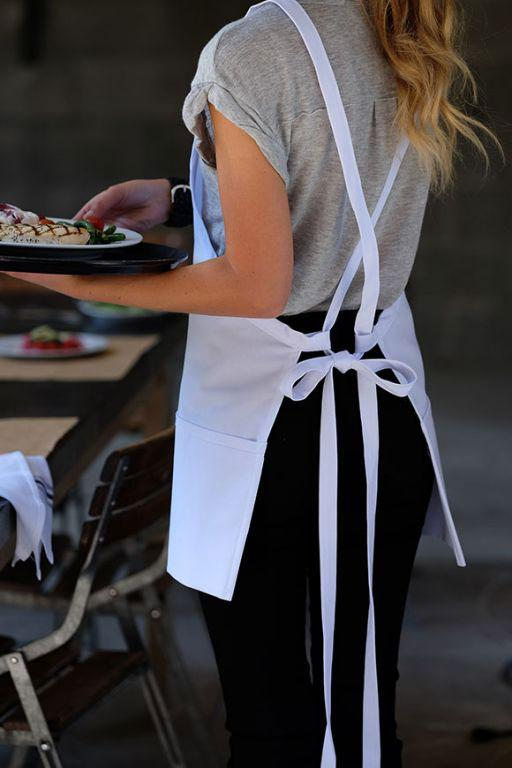Deluxe Criss Cross Bib Apron (3 Pockets)