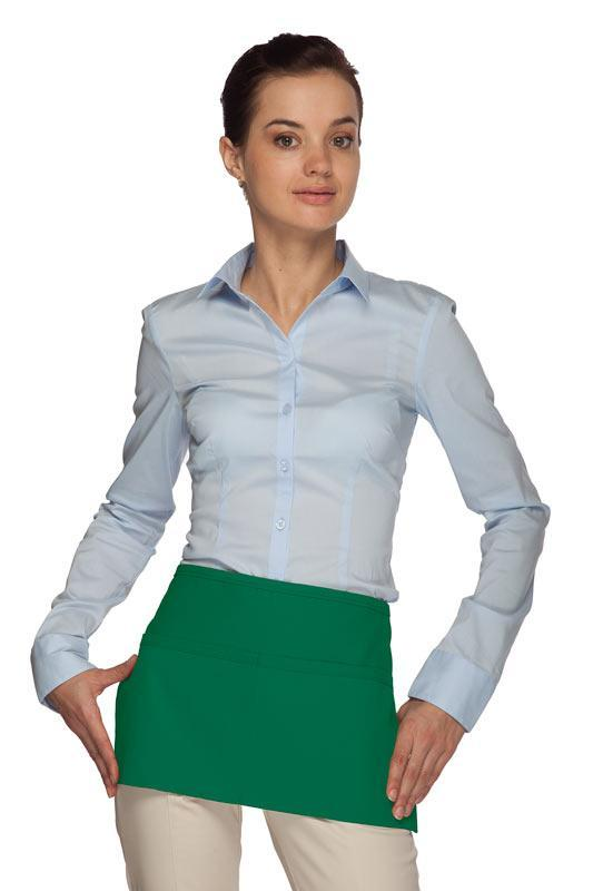 Kelly Green Standard Waist Apron (2 Pockets)