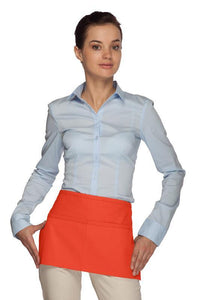 Orange Standard Waist Apron (2 Pockets)