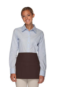 Brown Rounded Waist Apron (6 Pockets)