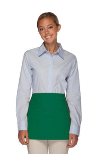 Kelly Green Rounded Waist Apron (6 Pockets)