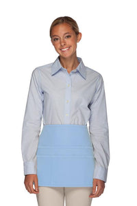 Light Blue Rounded Waist Apron (6 Pockets)