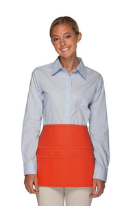 Orange Rounded Waist Apron (6 Pockets)