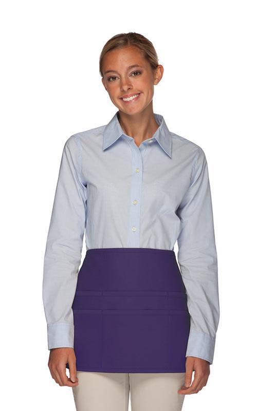 Purple Rounded Waist Apron (6 Pockets)