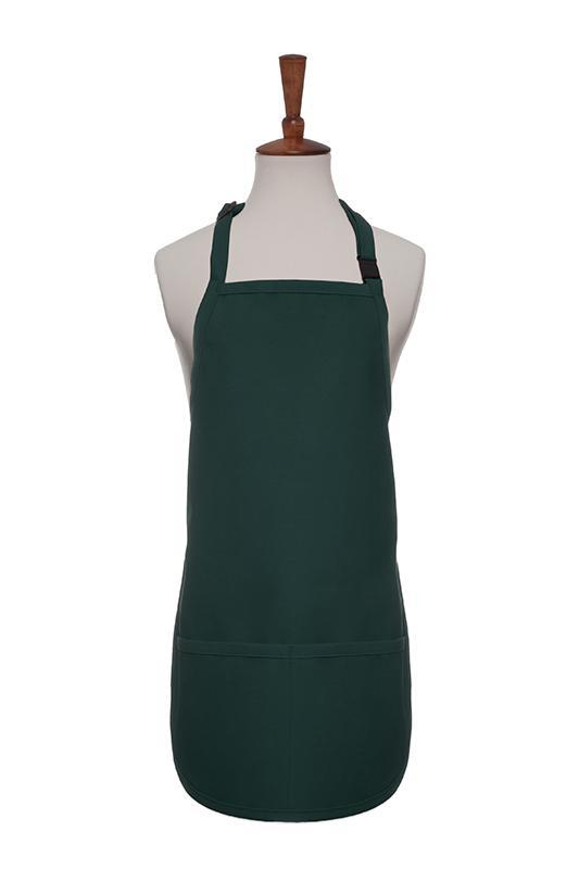 Hunter Green Breakaway Neck Kids Bib Adjustable Apron (2 Pockets)