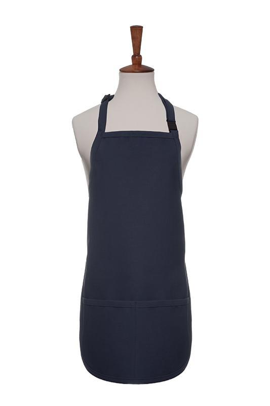 Charcoal Breakaway Neck Kids Bib Adjustable Apron (2 Pockets)