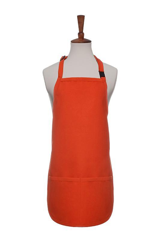 Orange Breakaway Neck Kids Bib Adjustable Apron (2 Pockets)