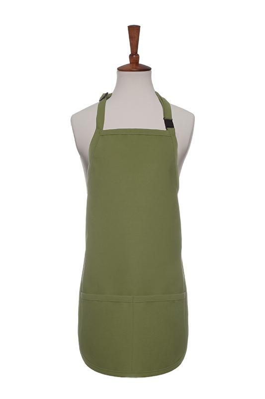 Sage Breakaway Neck Kids Bib Adjustable Apron (2 Pockets)