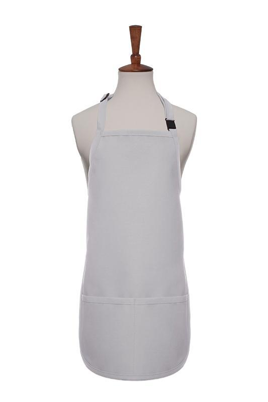 Silver Breakaway Neck Kids Bib Adjustable Apron (2 Pockets)