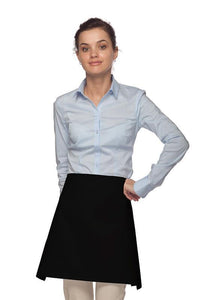 Black Four Way Waist Apron (No Pockets)