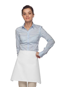 White Four Way Waist Apron (No Pockets)