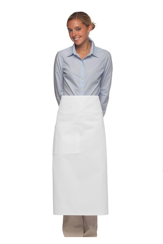 White Bistro Apron (One Pocket with Pencil Divide)