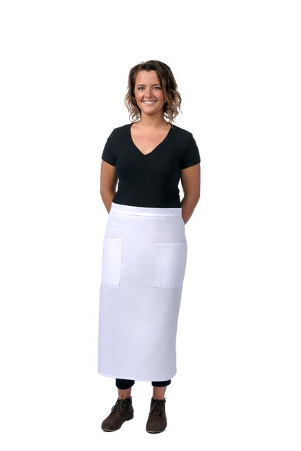 White Bistro Apron (2 Pockets)