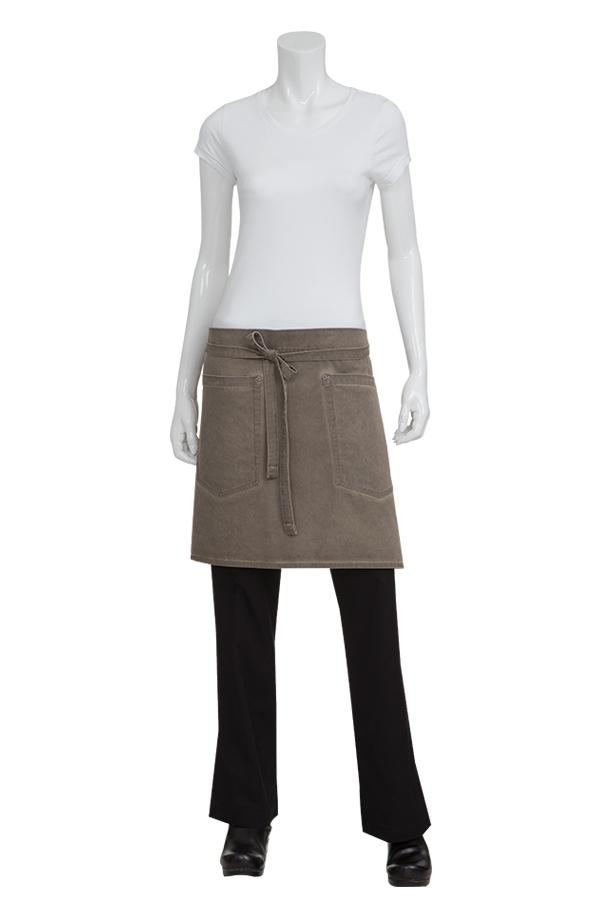 Earth Brown Dorset Half Bistro Apron