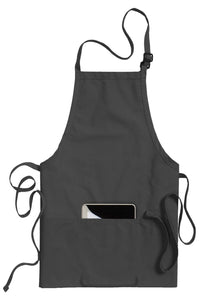 Steel Grey Bib Adjustable Apron (3 Pockets)