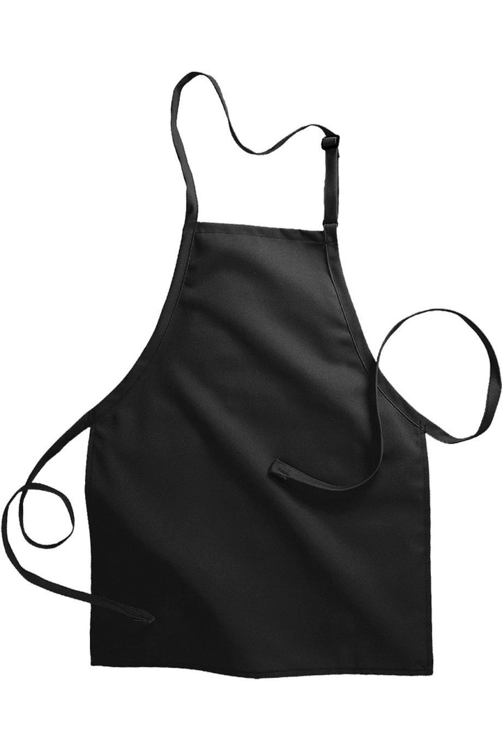 Black Bib Adjustable Apron (No Pockets)