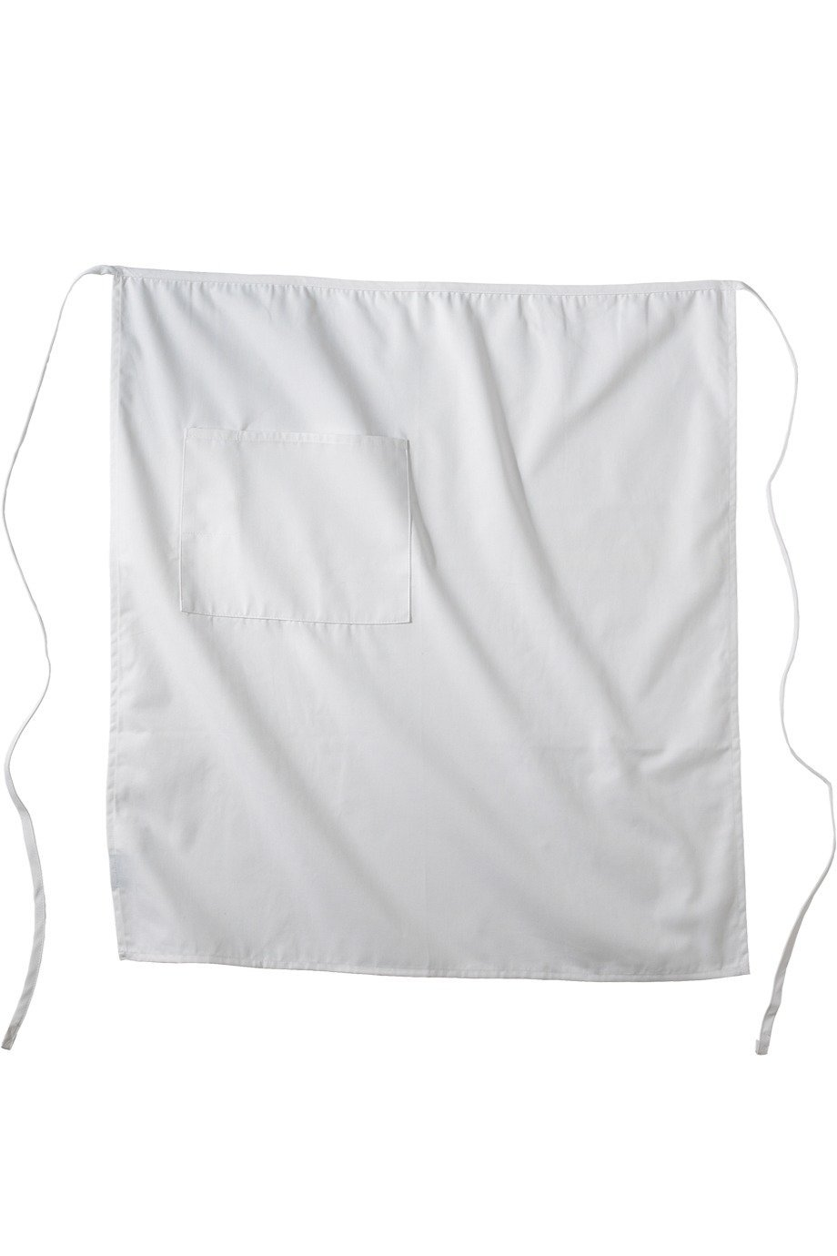 White Long Bistro Apron (1 Pocket)