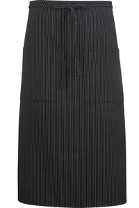 Pinstripe Long Bistro Apron (2 Pockets)