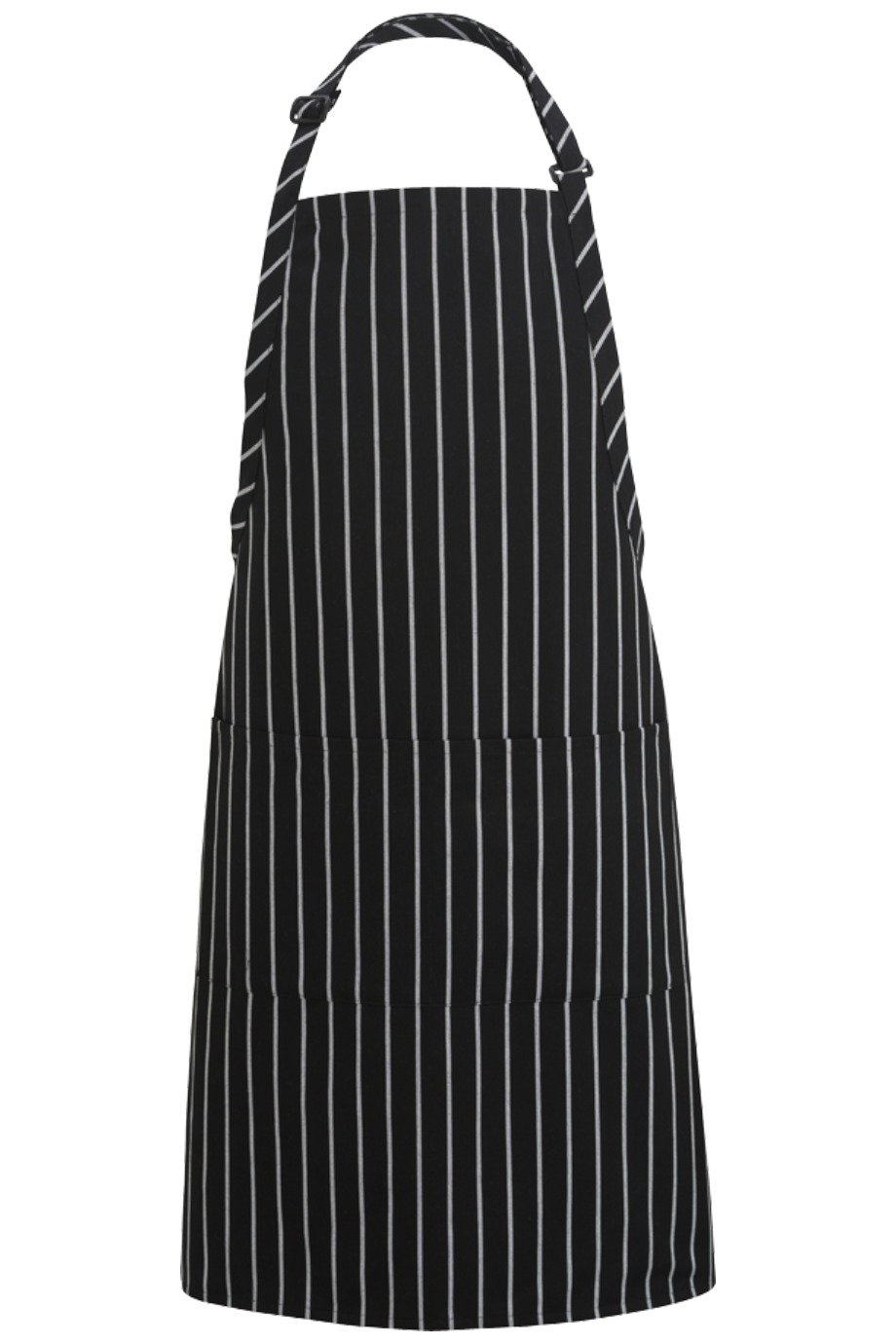 Chalkstripe Butcher Adjustable Apron (2 Pockets)