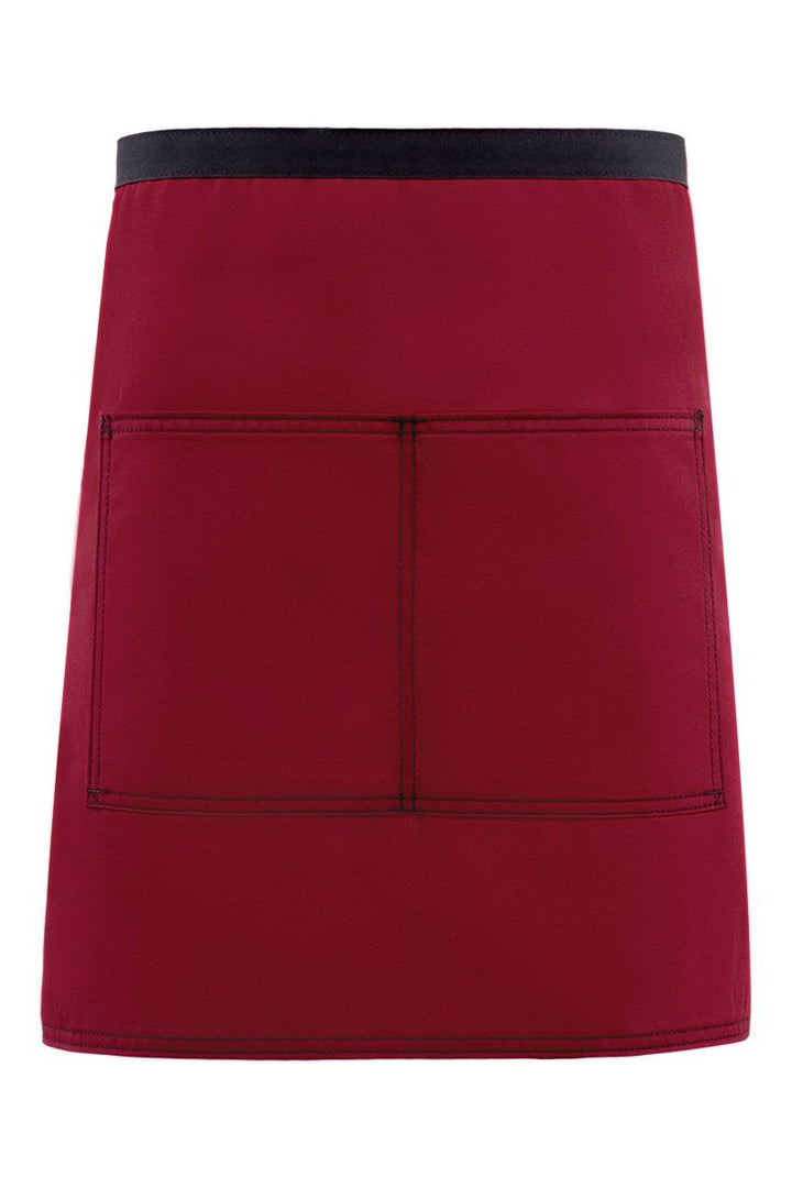 Burgundy City Market Everyday Half Bistro Apron