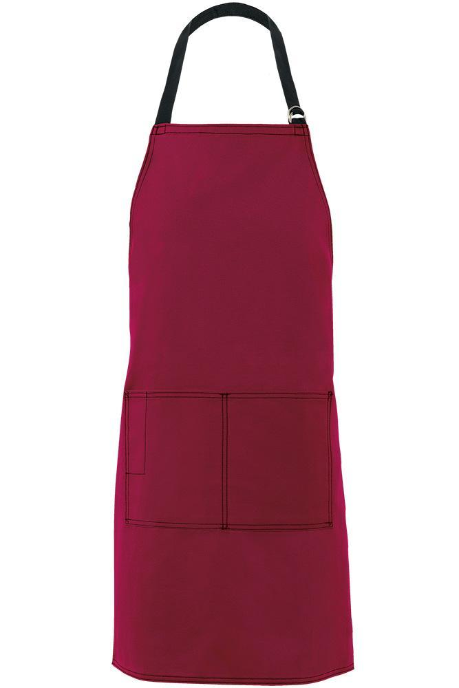 Burgundy City Market Everyday Long Bib Apron