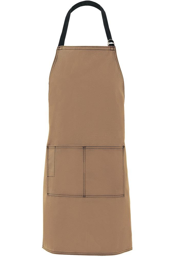 Khaki City Market Everyday Long Bib Apron