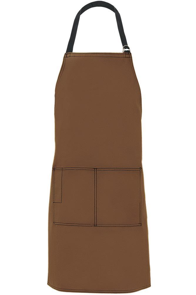 Mocha City Market Everyday Long Bib Apron