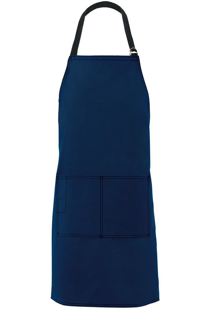 Navy City Market Everyday Long Bib Apron