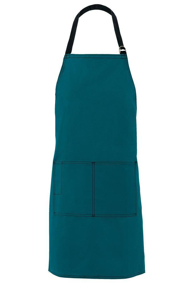 Teal City Market Everyday Long Bib Apron