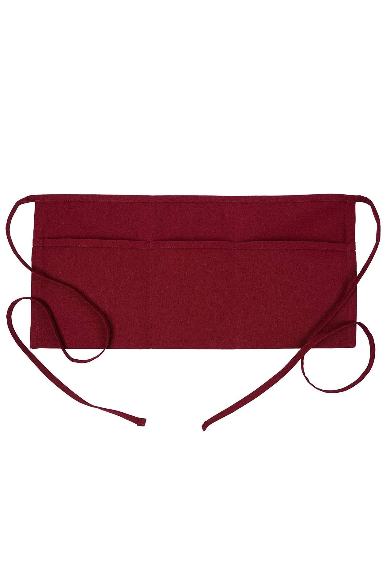 Burgundy Waist Apron (3 Pockets)