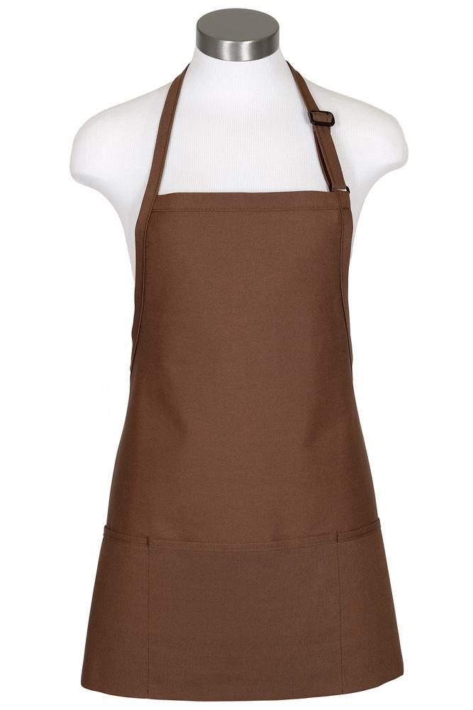 Mocha Bib Adjustable Apron (3 Pockets)