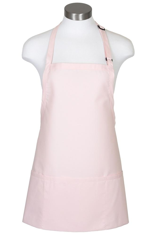 Pink Bib Adjustable Apron (3 Pockets)